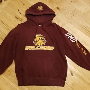 UMD Bulldogs Embroidered Hoodie (L)